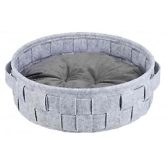 Trixie Lennie Gray Round Dog Basket Lennie