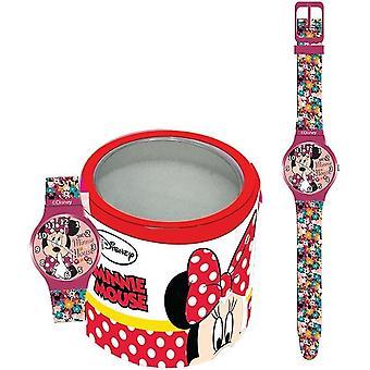 Walt disney kid's watch minnie - tin box 561974