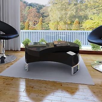 vidaXL table basse de forme réglable haute brillance noir