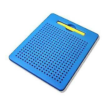 Light blue numerical letter plastic steel ball magnetic drawing board children's toy x3434