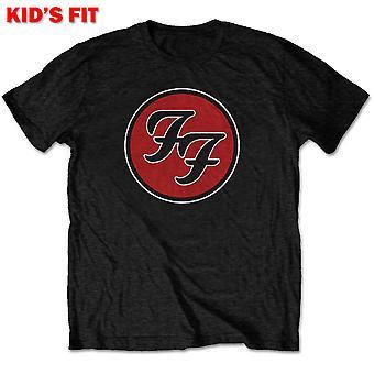 Foo Fighters - FF Logo Kids 1 - 2 Years T-paita - Musta