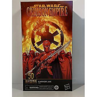 Star Wars Carnor Jax Musta Sarja 50-vuotisjuhla Lucas Elokuva Hasbro F2816
