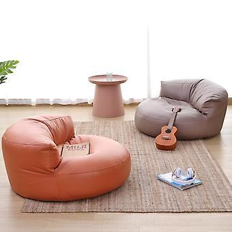 Wash-free Leather Cloth Bean Bag Sofa No Filler Single Sofa Chair Footrest Stool Floor Seat Corner Lazy Sofa Balcony Tatami Pouf