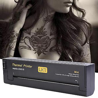 Lightweight Tattoo Draw Design Copiatore portatile Tattoo Transfer Machine Nero