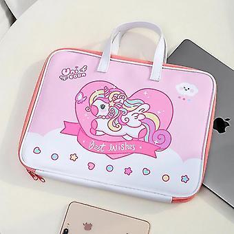 Étui à manches pour 11 13 Ipad Mignon Ours Unicorn MacBook Air Laptop Liner Bag (Licorne)