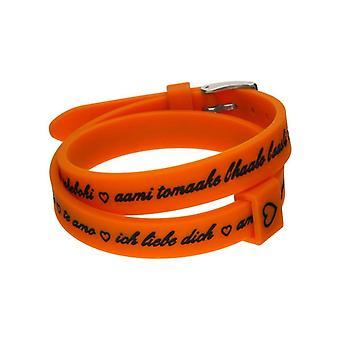 Il mezzometro i love you silver silicone bracelet  bm1710
