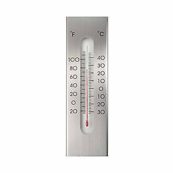 Natur Trädgård Väggtermometer Aluminium 7 x 1 x 23 cm