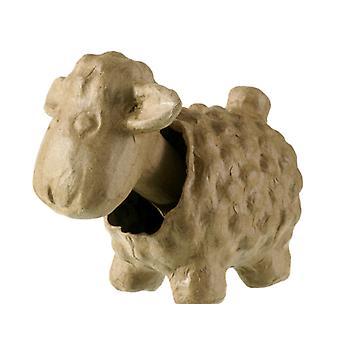 16.5cm Papier Mache Tête de mouton hoche la tête pour décorer Têtes de Bobble Wobble