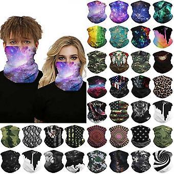 (Army Camo Print) Multi uso Biker Balaclava Ciclismo Cuello calentador tubo bufanda Snood Máscara facial Bandana