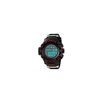 1380 Chrono Luminous Clock Date Week Display Digital Watch RED COLOR
