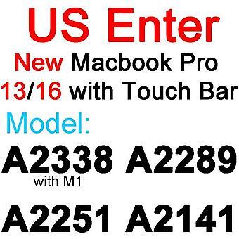 2kpl näppäimistösuoja ihon kansi macbook 2020 pro 13 15 16 17 tuuman verkkokalvo eu us