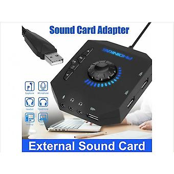 External Audio Usb Sound Card 3.5mm 7.1 Channel Virtual Adapter For Laptop Pc
