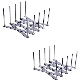 Pot Lid Holder - Spare Rib Rack - Stainless Steel Multi-use Adjustable Length - Perfect for