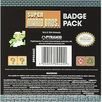 Super Mario Abzeichen Set (Pack von 5)