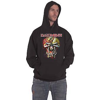 Iron Maiden Huppari Final Frontier Big Head Logo uusi virallinen Miesten Musta Pullover