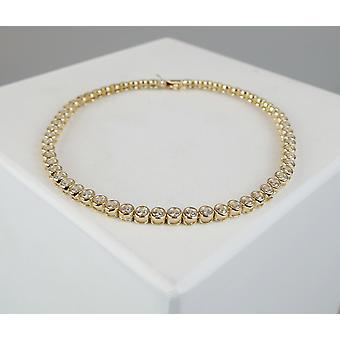 Geel gouden tennis armband met zirkonia