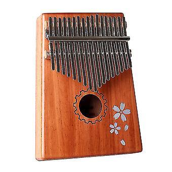 Kalimba thumb piano 8 keys sakura inlaid pattern portable musical instrument for kids