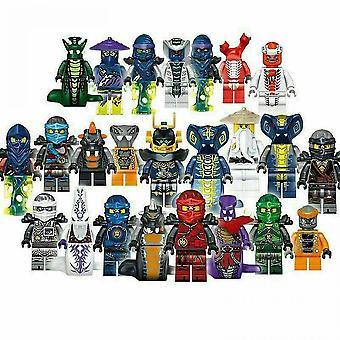 24 Pcs Ninjago Figures Kai Jay Minfigures Building Blocks Toys Gift