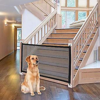 Magic Gate For Dogs, Folding Stair Gate Safe Guard Pet Isolation Net