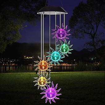 Sofirn Led Solar Wind -kellot, värikäs kuplapylväs Aurinkotuulikellolamppu, Memorial Wind Bell puutarhan sisustukseen