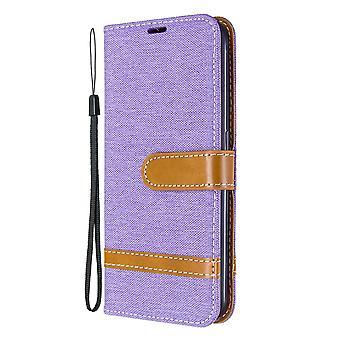 Leather Case For Samsung Galaxy A01 Denim Pattern