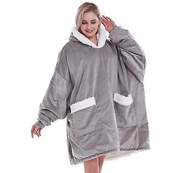 Femei supradimensionate Soft Cald Confortabil Wearable Hoodie cu buzunar gigant