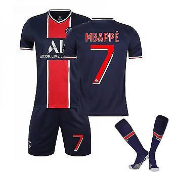 Mbappe #7 Jersey Home 2021-2022 Uuden kauden Miesten Pariisin Jalkapallo T-paidat Jersey Set Adult Children