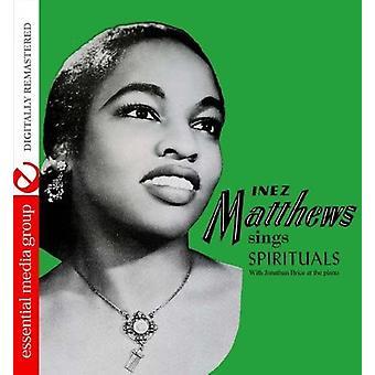 Inez Matthews - Inez Matthews Sings Spirituals [CD] USA import