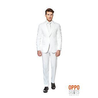 Opposuit White Knight costume slimline Premium 3 pièces UE tailles