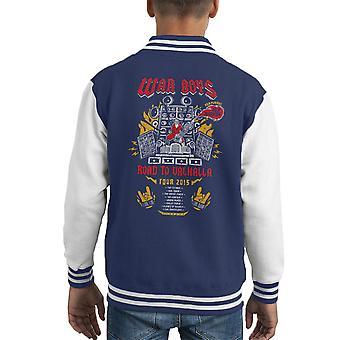 Route de garçons de guerre à Valhalla Mad Varsity Jacket de Max Fury Road Kid