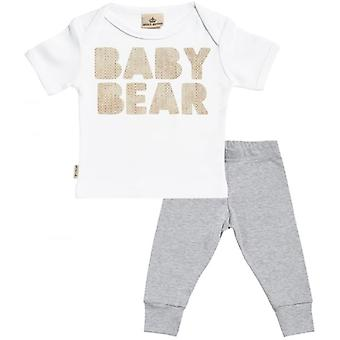 Spoilt Rotten Baby Bear Baby T-Shirt & Baby Jersey Trousers Outfit Set