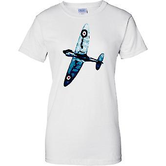 Spitfire blaue Farbe - WW2-Jagdflugzeug - Damen T Shirt