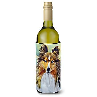 Sheltie Toby Wine Bottle beverage Insulator Hugger