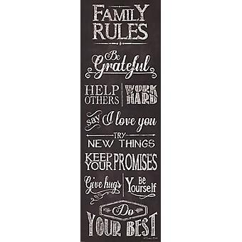 Family Rules Poster Print by Susan Ball (12 x 36)
