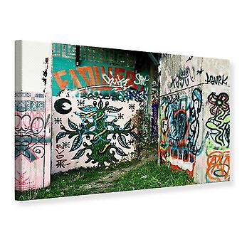 Lona impresión Graffiti en el patio trasero