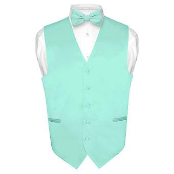 男士连衣裙背心和鲍蒂实心弓领带套装适合西装或 Tuxedo