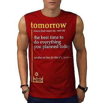 Morgen am besten Männer RedSleeveless T-shirt | Wellcoda