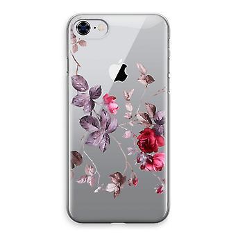 iPhone 8 Transparant Case (Soft) - mooie bloemen