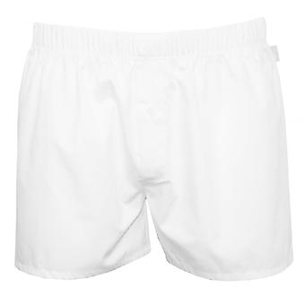 Hanro Fancy Woven Button-Fly Boxer Shorts, White