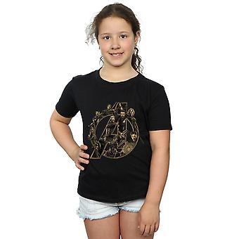 Marvel Girls Avengers Infinity War Marvel Logo T-Shirt