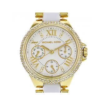 Michael Kors Ladies Camille branco e relógio de ouro MK5945