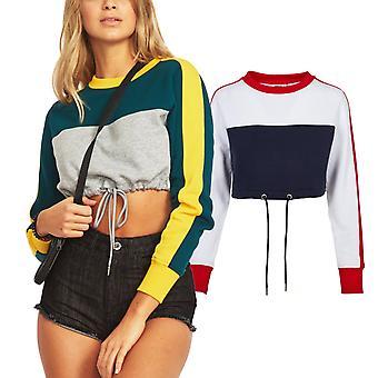 Urban classics ladies - 3-TONE cropped stripe sweater