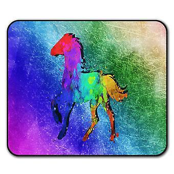 Splash Horse Paint  Non-Slip Mouse Mat Pad 24cm x 20cm | Wellcoda
