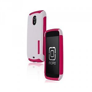 Incipio - Hard Shell Silicrylic for Samsung i9250 Galaxy Nexus 3 - White / Pink