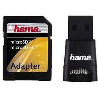 Hama 91047 External memory card reader USB 2.0 Black