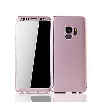 Samsung Galaxy S9 mobiili Asuminen Schutzcase koko kattaa 360 näytön suoja folio nousi