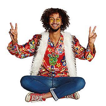 フラワー パワー ヒッピー衣装ヒッピー トップ シャツとベスト大人用コスプレ衣装
