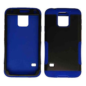 Unlimited Cellular Hopper Case for Samsung Galaxy S5 (Black Snap and Blue Skin)