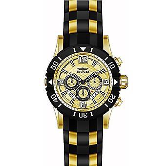 Invicta Pro Diver 23705 polyuréthane, montre chronographe en acier inoxydable