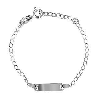 Coralie 925 Silver Bracelet d'identité les enfants 15 CM ZA-7458